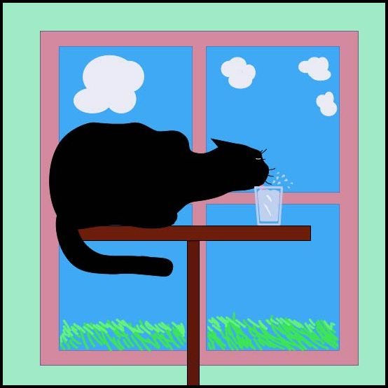Drinking Cat by philippeL
