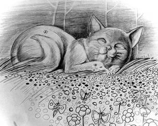 Sleeping Kitty in La-La-Land by philippeL