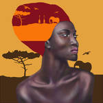 African Lady (digital portrait) by philippeL