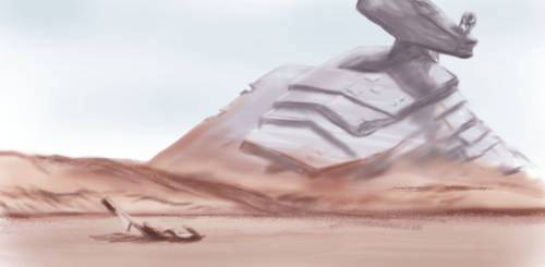 Wrecked Star Destroyer Speed Painting