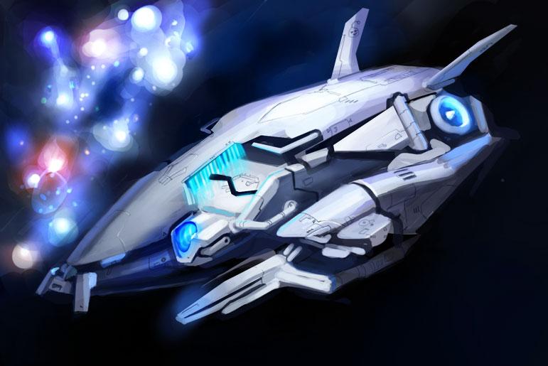 Alien ship by omi-kun