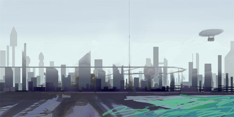 City of Babel WIP by omi-kun