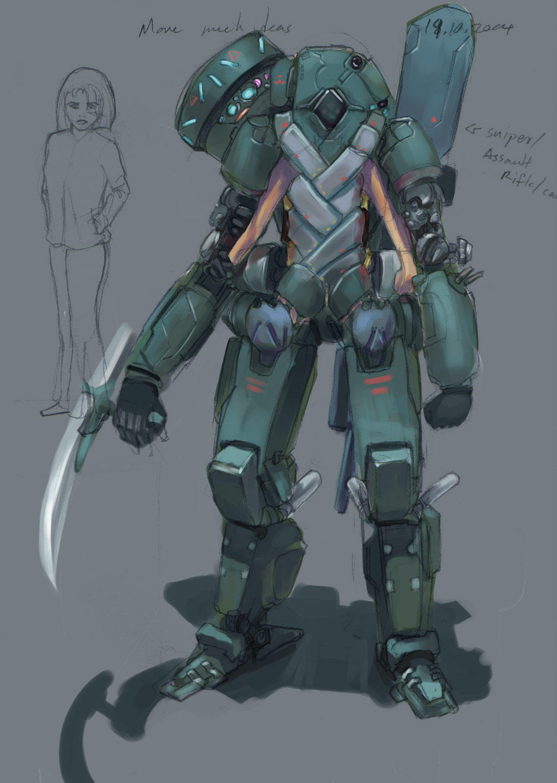 Concept Art: Exosuit01 by omi-kun