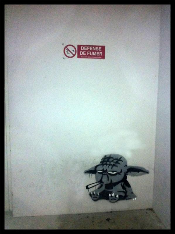 Yoda smoking by TheArtofBlouh
