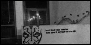 Darth maul street art