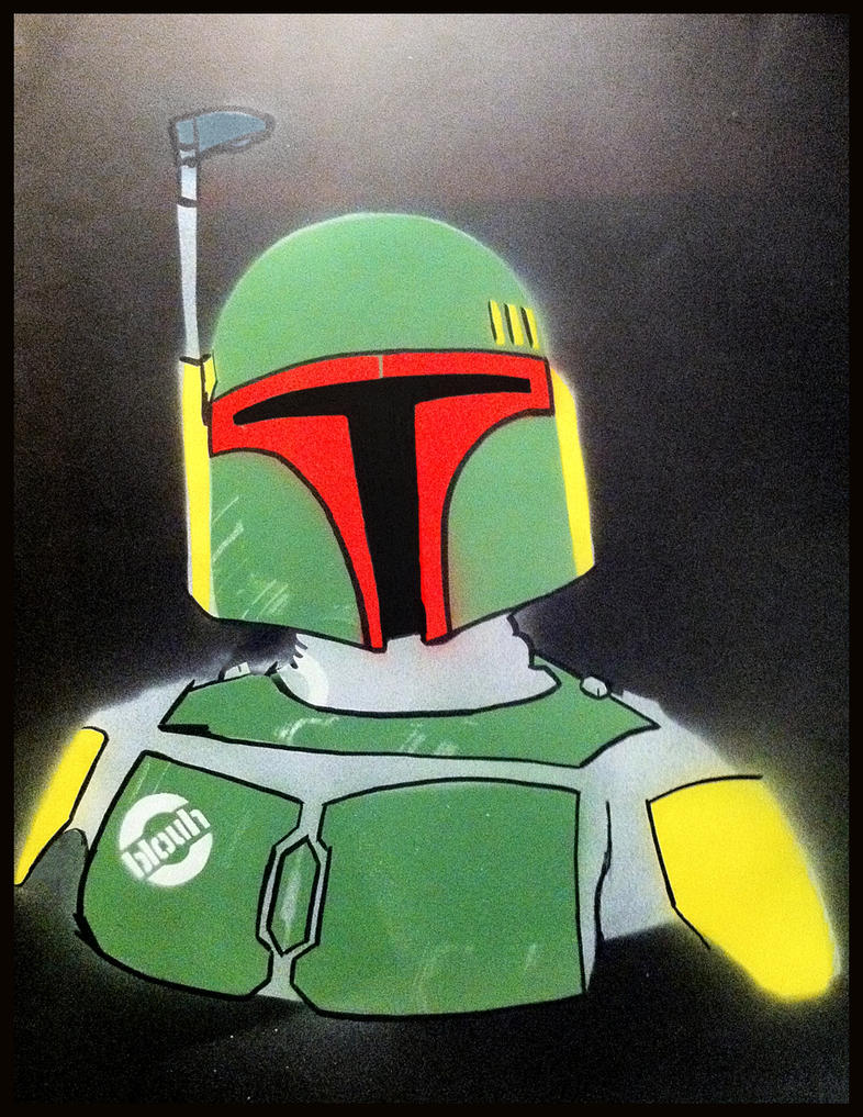 Boba Fett Street Art by TheArtofBlouh