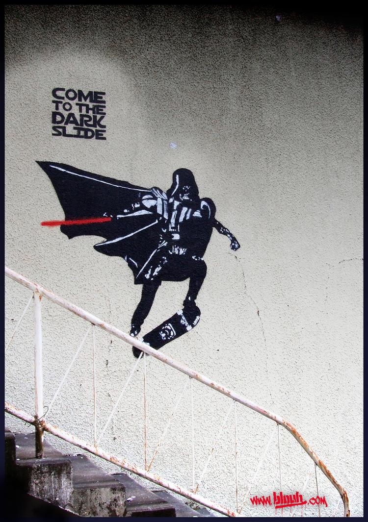Darth Vader skateboarding by TheArtofBlouh