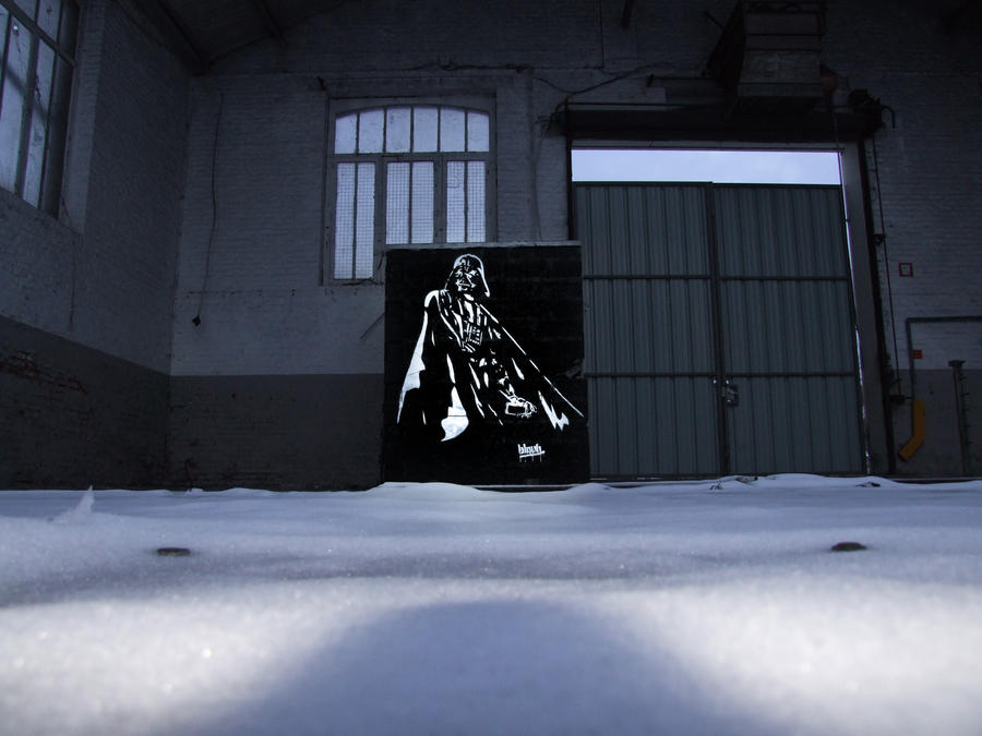 Darth Vader spraypainting by TheArtofBlouh