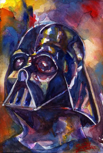 Darth Vader - Watercolor by psdguy on deviantART