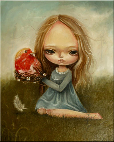 Madeline and the bird by paulee1 on DeviantArt