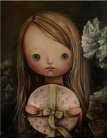 The girl with a hatbox