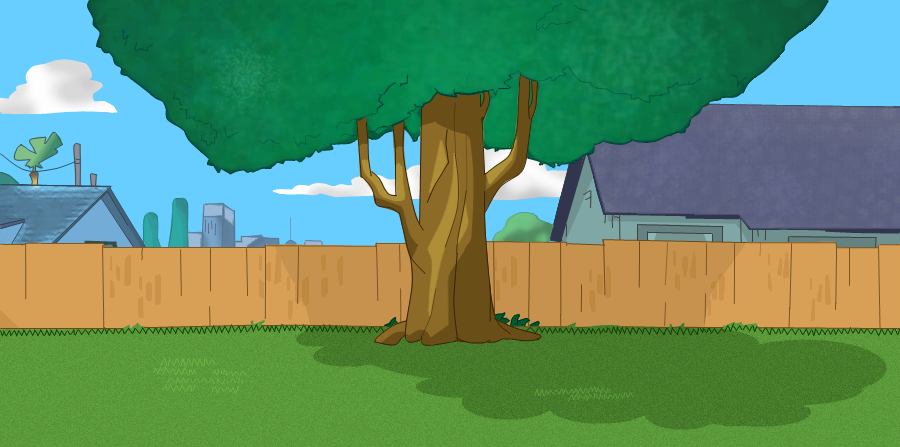 Phin ferb backyard draw by me by angelina747 on deviantart for Backyard drawing plans