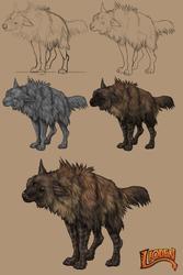 Process: Brown Hyena by Deertush