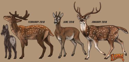 Lioden: Deer Progression by Deertush