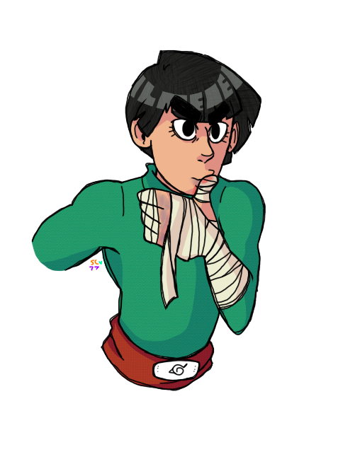 dwayne the Rock lee by Sophy-Chan77