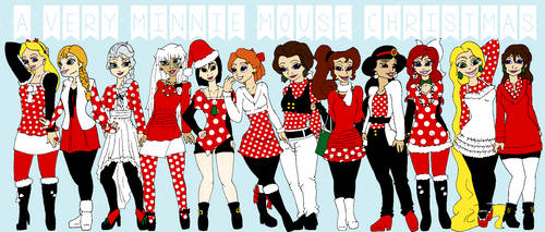 Minnie Mouse Christmas by circusdreamsandmagic