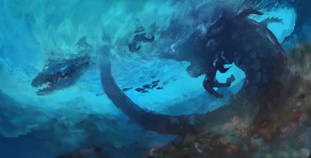 Underwater Dragon by danielmchavez
