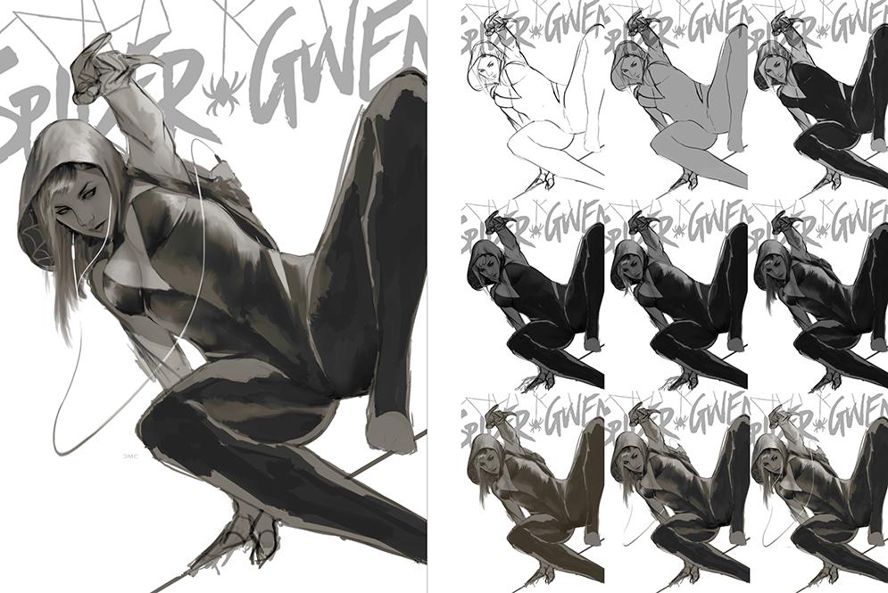 Spider-Gwen Work in Progress by danielmchavez