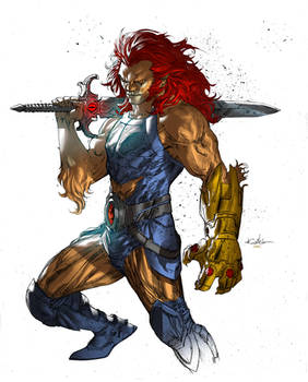 Lion-O (Coloring over Guile Sharp's line art)
