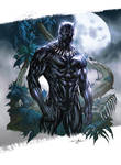 Black Panther (Coloring on Guile Sharp's line art)