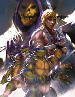 TMNT / He-Man Crossover by danielmchavez