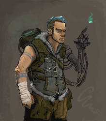 post-apocalyptic ghostbuster by Parkhurst