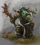 a Blizzardy elemental Orc shaman