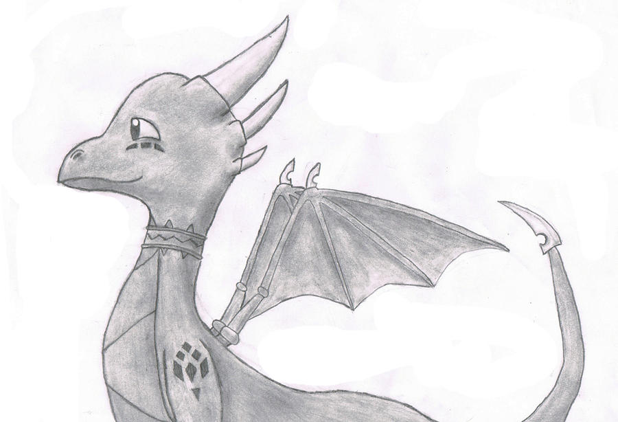 Cynder drawing by razortheedragon on deviantart for Good but easy things to draw