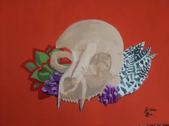Plants, Gems and Skull