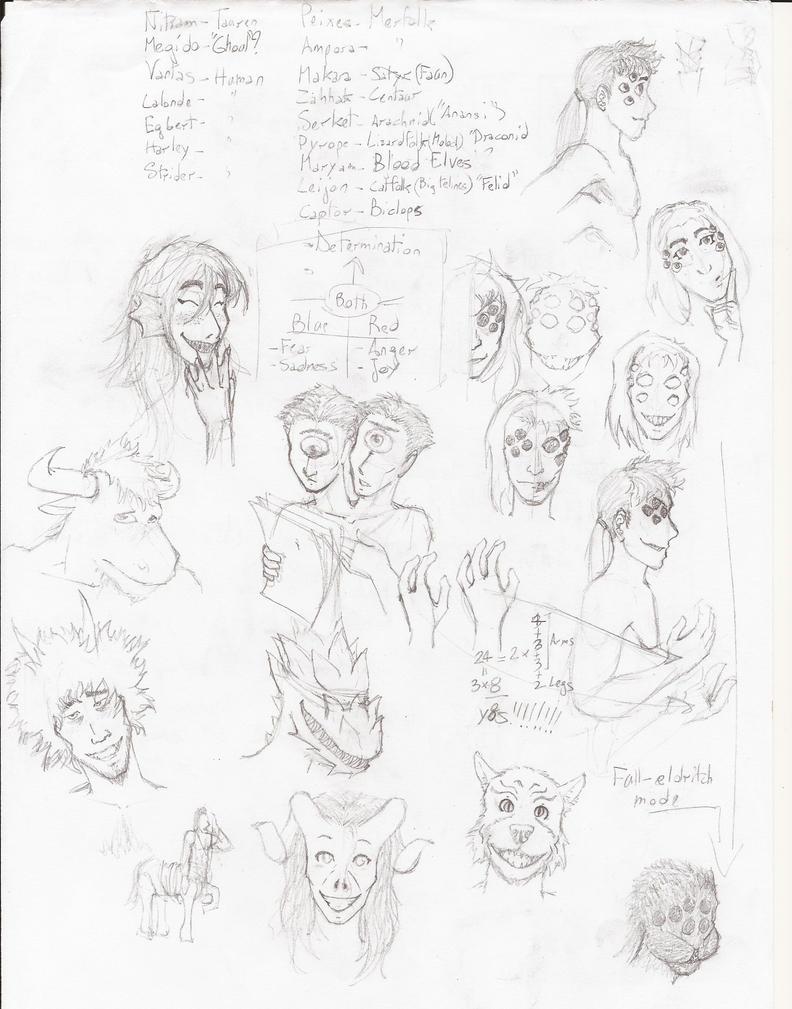 Monsterstuck - Sketch by hueynomure