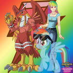 Rainbow Dash and Garudamon 2