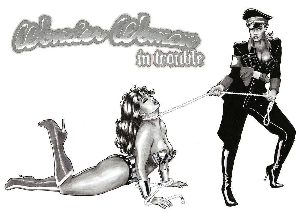 Wonder Woman in trouble by Falcao19