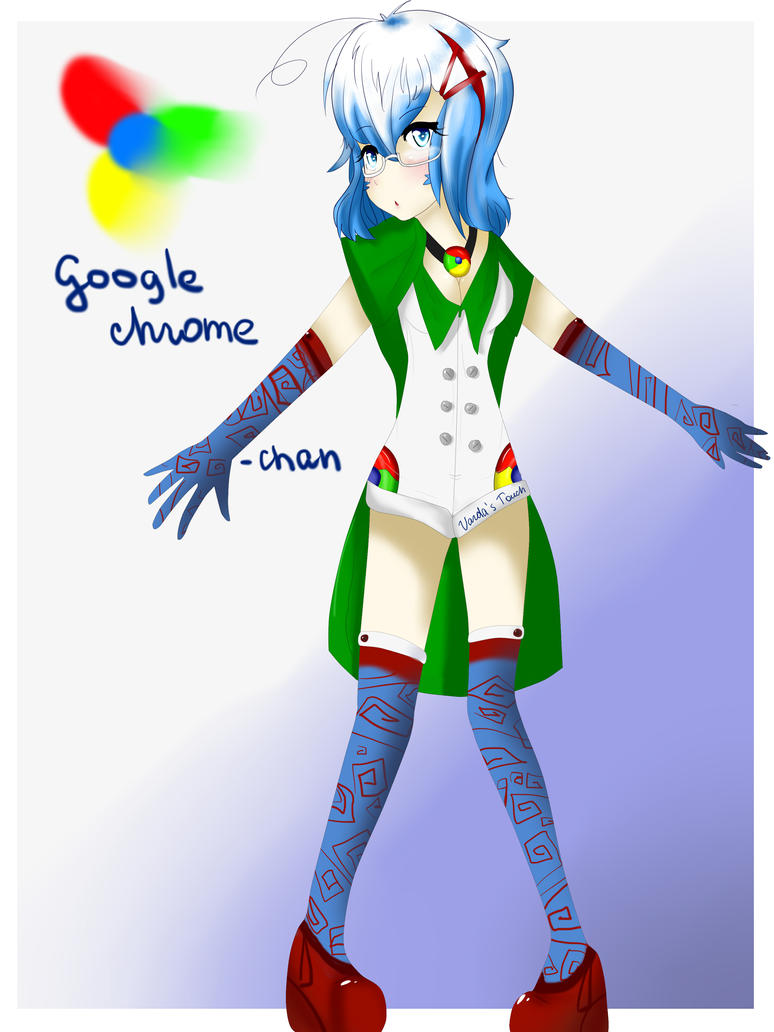 Google Chrome mascot by VardasTouch