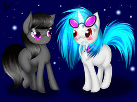 Octavia and Vinyl Scratch by VardasTouch