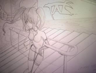 Tae (Rough Sketch). by Billiam-X