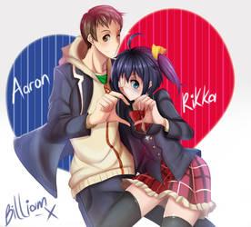 COMMISSION: Aaron X Rikka by Billiam-X
