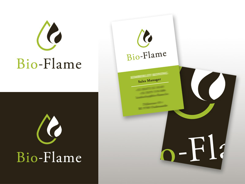 Logo and Card -  Bio-Flame by mikomi26