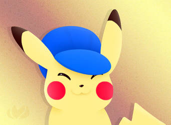 Hatted Pikachu by raininess