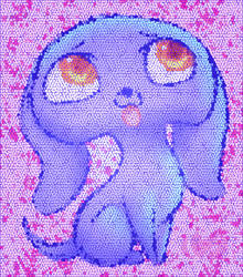 mosaic puppy by raininess