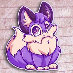 Purple Fox by raininess