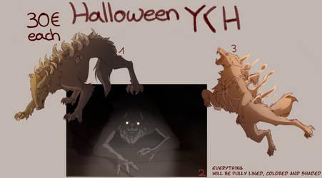 Canine Halloween YCH