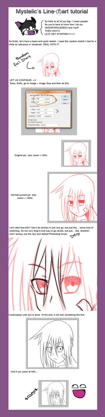 Line Art Tutorial : Line art tutorial by mystelic on deviantart