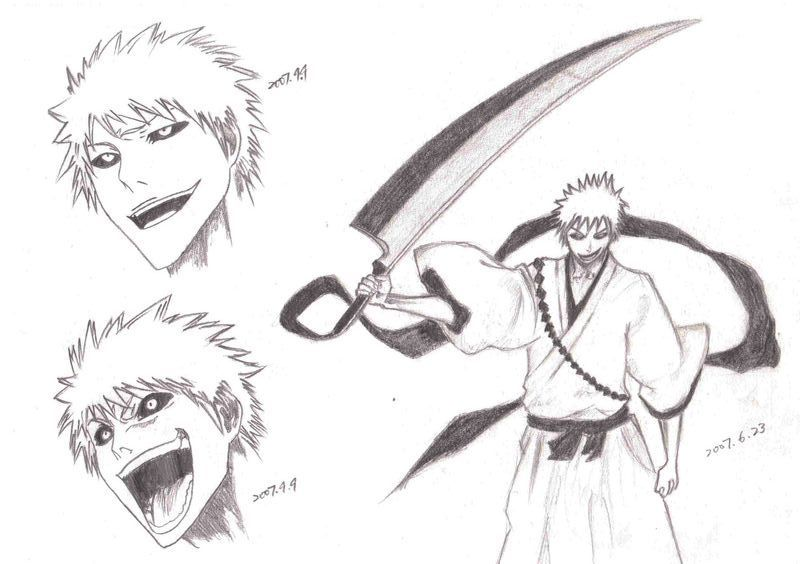 Hollow Ichigo Drawing By Bcrichguy15 On DeviantArt