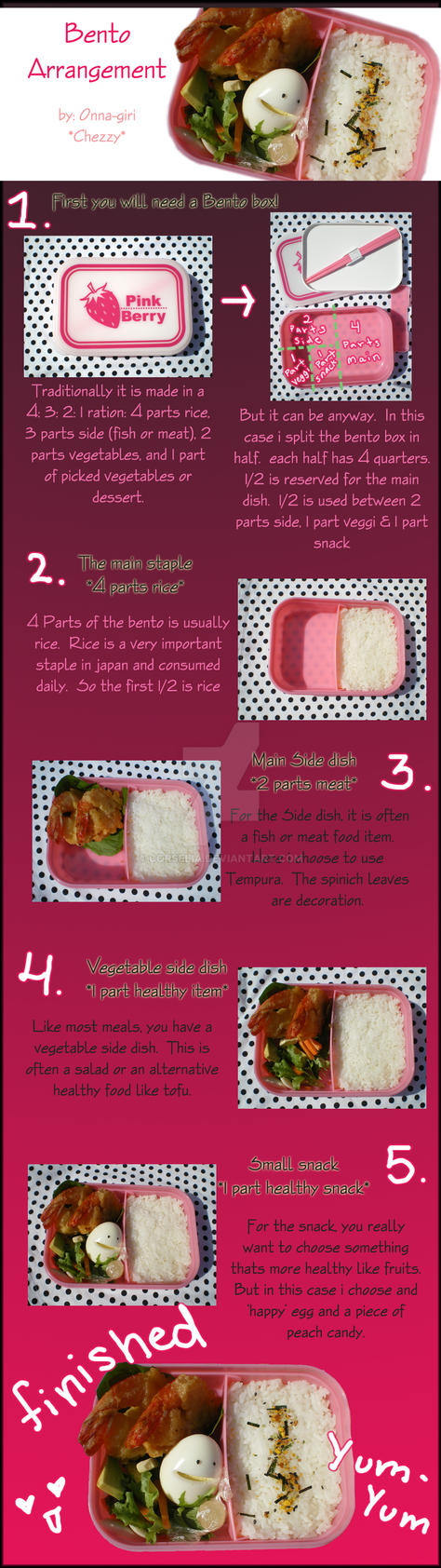 Bento Arangement Tutorial by Corselia