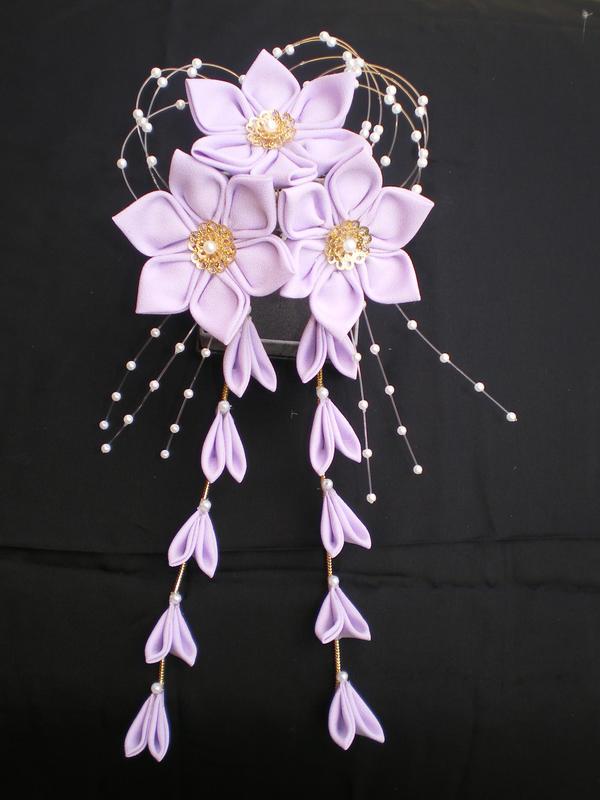 Lilac Purple Kanzashi by Corselia