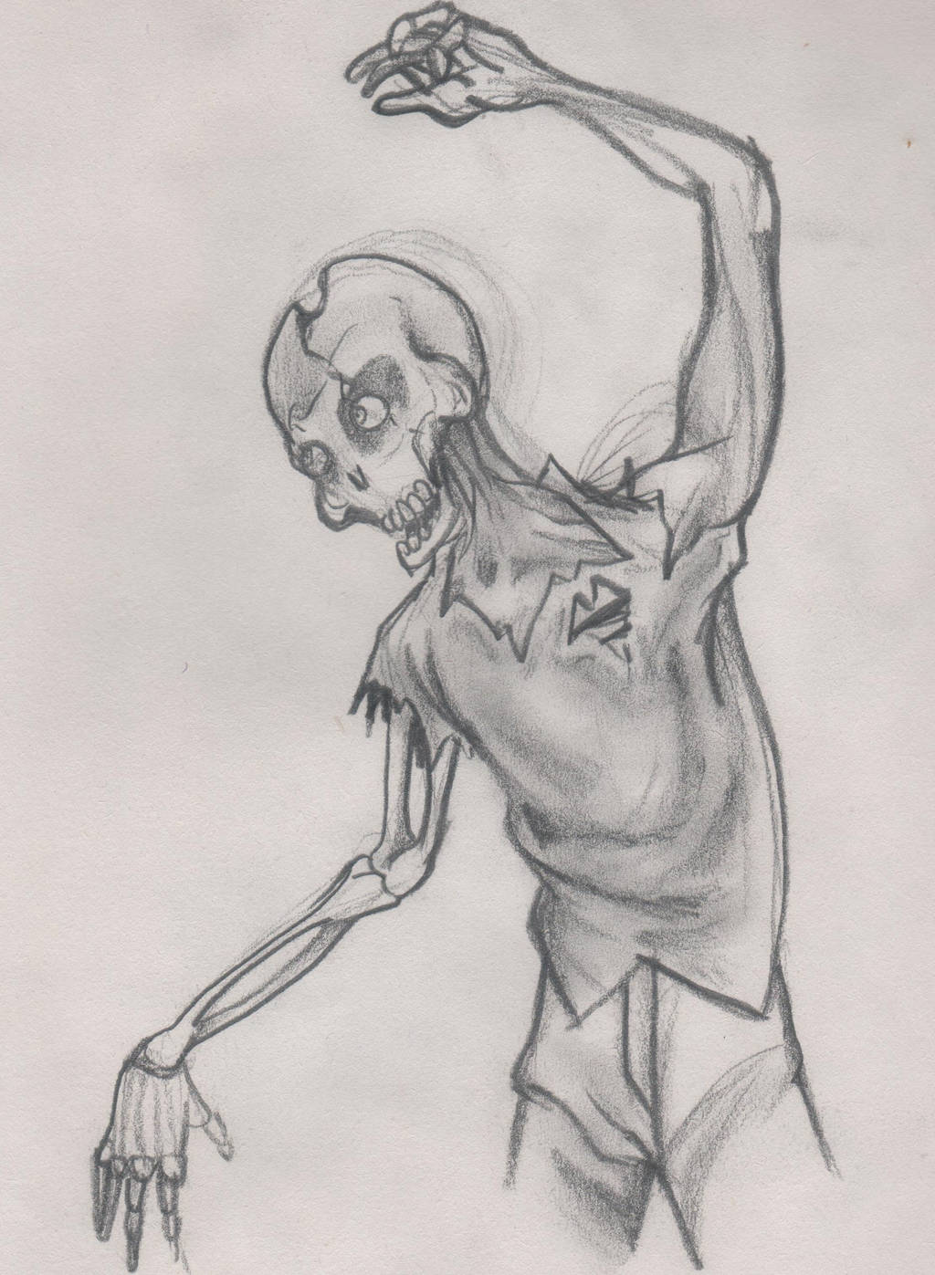 Zombie drawing (old drawing) by Helghast0