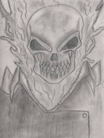 Ghost Rider (old drawing) by Helghast0