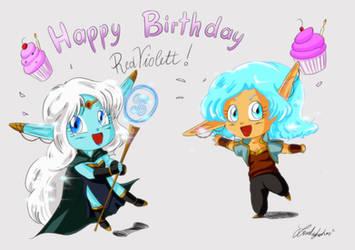Happy Birthday, RedViolett! by lovelykotori
