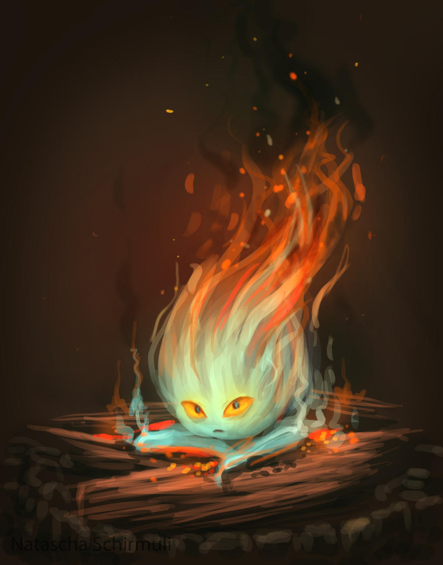 howls moving castle howl and calcifer meet