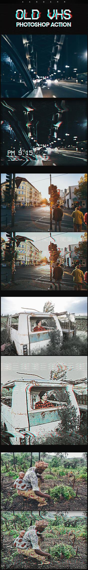 Old VHS Photoshop Action by Kluzya